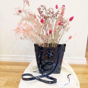 Mansur Gavriel Navy Blue Patent Bucket Bag